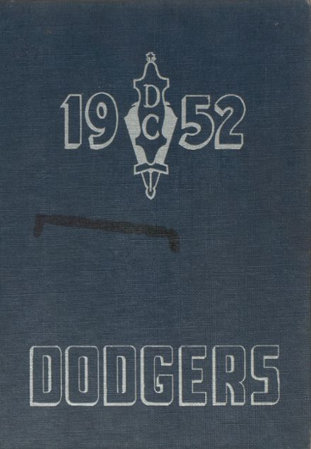 1952 Dodge Center High School Yearbook Cover