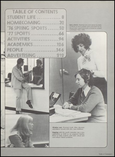 1977 Muscatine High School Yearbook Page 7