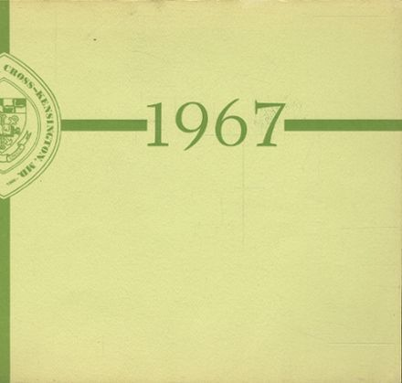 1967 Academy of The Holy Cross Yearbook Cover