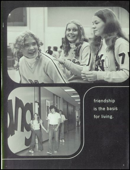1974 Maine North High School Yearbook Page 9