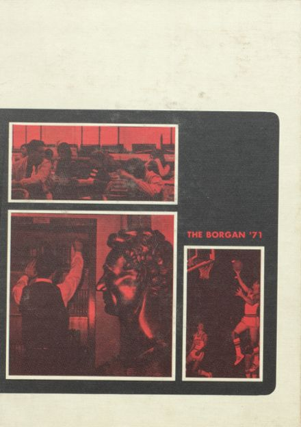 1971 Borger High School Yearbook Cover
