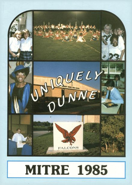 1985 Bishop Dunne High School Yearbook Cover