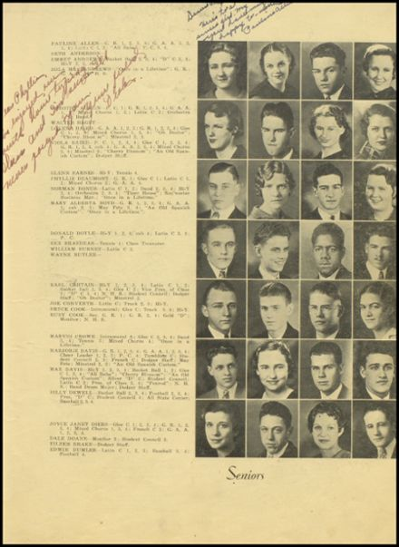 1935 Dodge City High School Yearbook Page 9