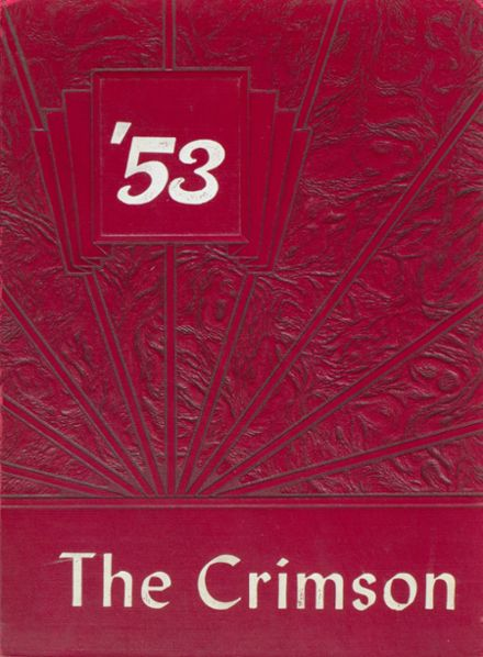 1953 W. S. Creecy High School Yearbook Cover