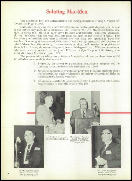 1959 Macomber Vocational High School Yearbook Page 8