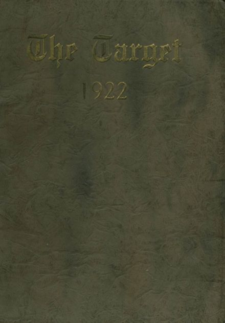 1922 Mt. Pleasant High School Yearbook Cover