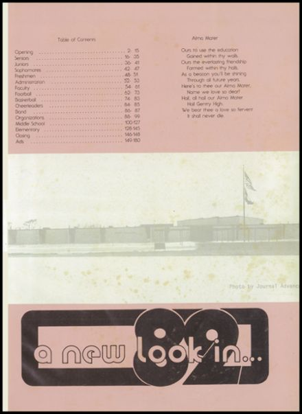 1982 Gentry High School Yearbook Page 5