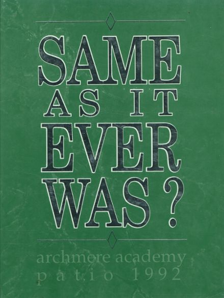 1992 Archmere Academy Yearbook Cover