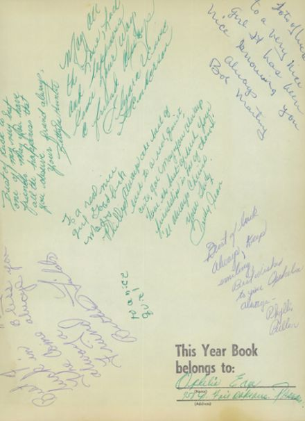 1959 Franklin High School Yearbook Page 3