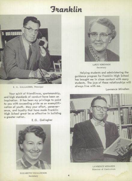 1959 Franklin High School Yearbook Page 8
