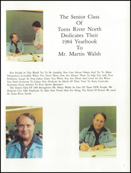 1984 Toms River North High School Yearbook Page 9