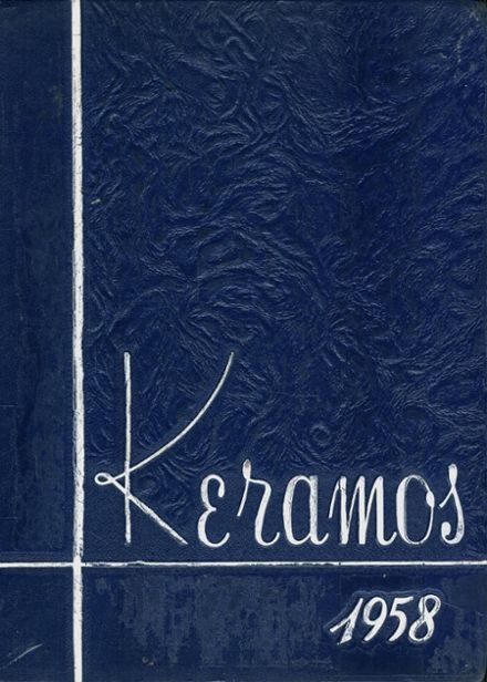 1958 East Liverpool High School Yearbook Cover