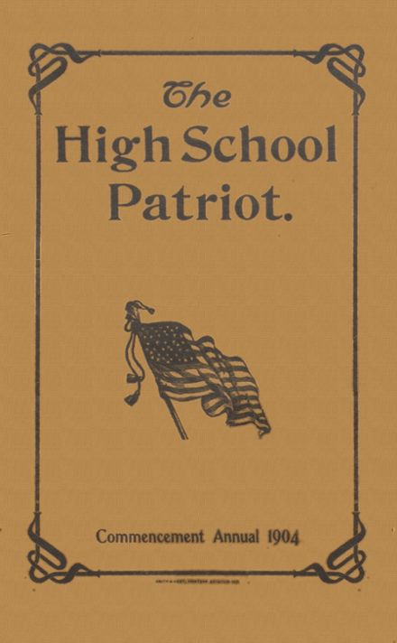 1904 Seymour High School Yearbook Cover