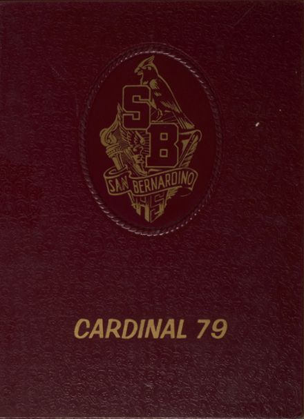 1979 San Bernardino High School Yearbook Cover