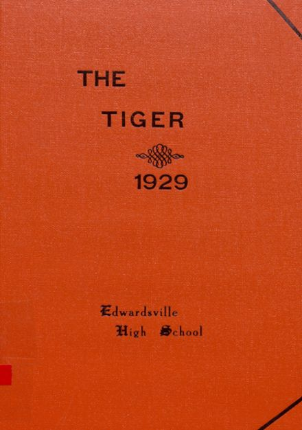 1929 Edwardsville High School Yearbook Cover