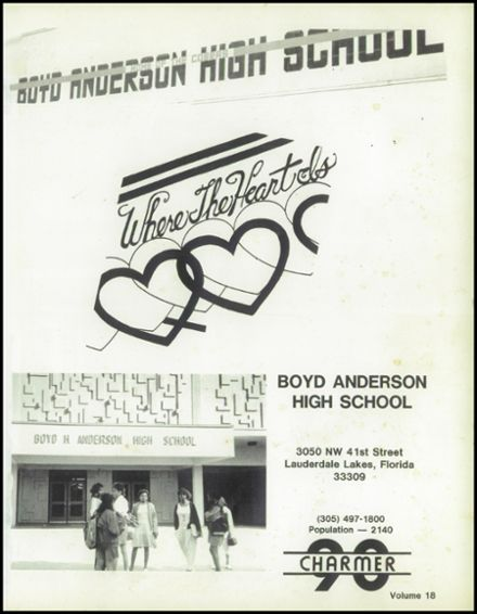 1990 Boyd Anderson High School Yearbook Page 5