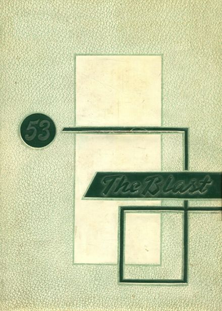 1953 Greenway High School Yearbook Cover