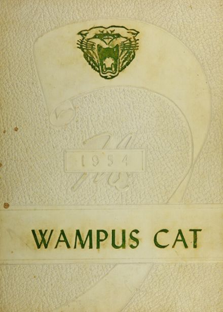 1954 Leesville High School Yearbook Cover