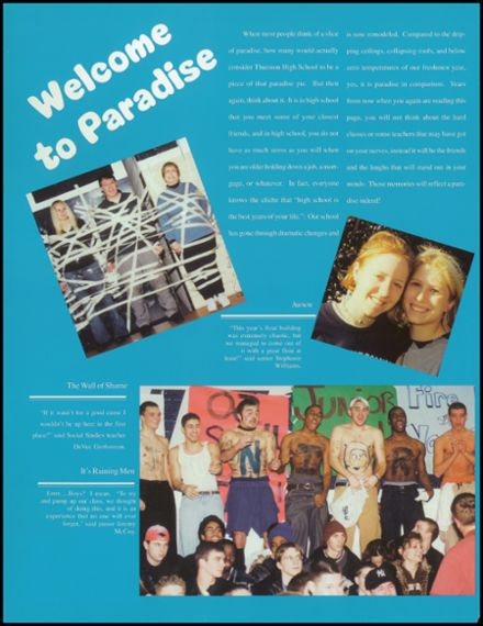 2001 Thurston High School Yearbook Page 6