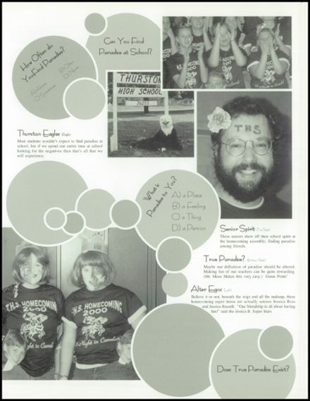 2001 Thurston High School Yearbook Page 9