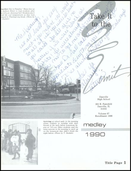 1990 Danville High School Yearbook Page 5