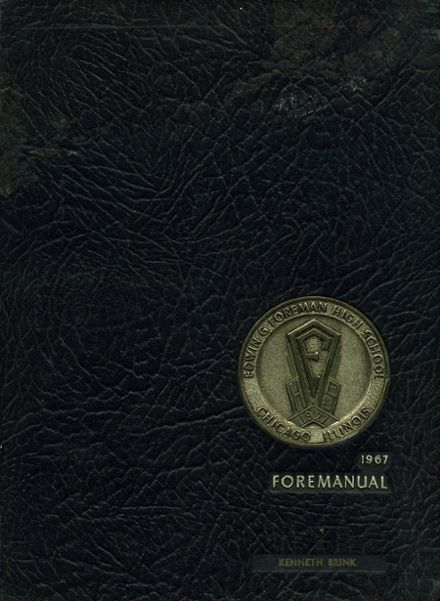 1967 Foreman High School Yearbook Cover
