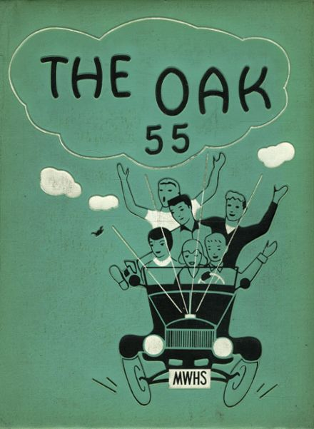 1955 Mt. Whitney High School Yearbook Cover