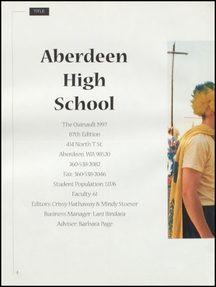 1997 Aberdeen/Weatherwax High School Yearbook Page 6