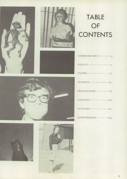 1972 Pittsburg High School Yearbook Page 7