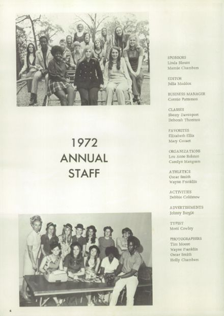 1972 Pittsburg High School Yearbook Page 8