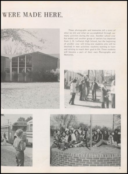 1976 Leftwich High School Yearbook Page 7