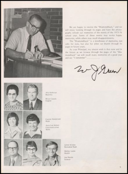 1976 Leftwich High School Yearbook Page 9