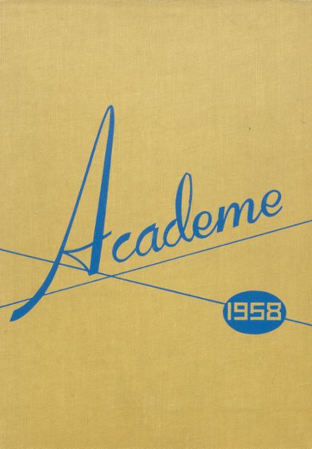 1958 Academy High School Yearbook Cover