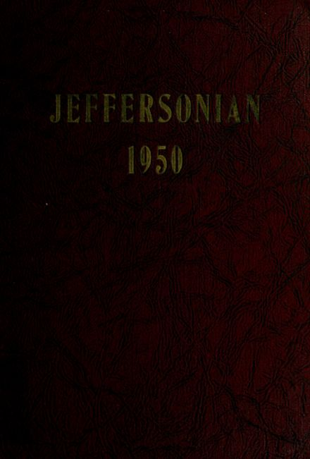 1950 Jefferson High School Yearbook Cover