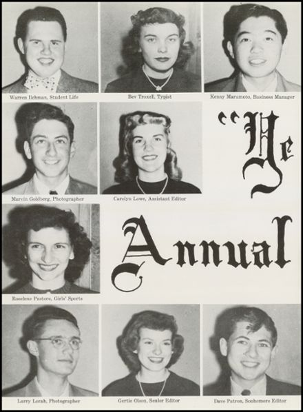 1951 North High School Yearbook Page 8
