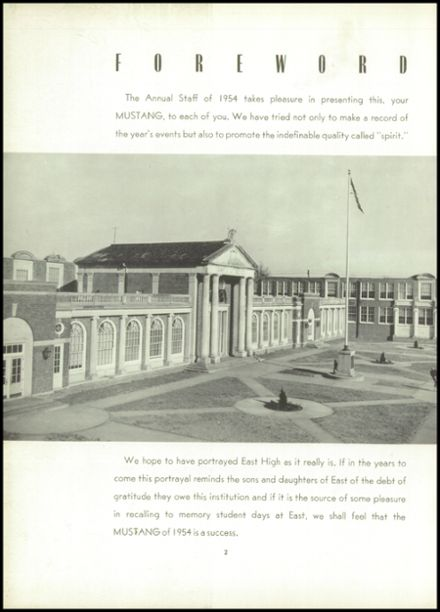 1954 East High School Yearbook Page 6