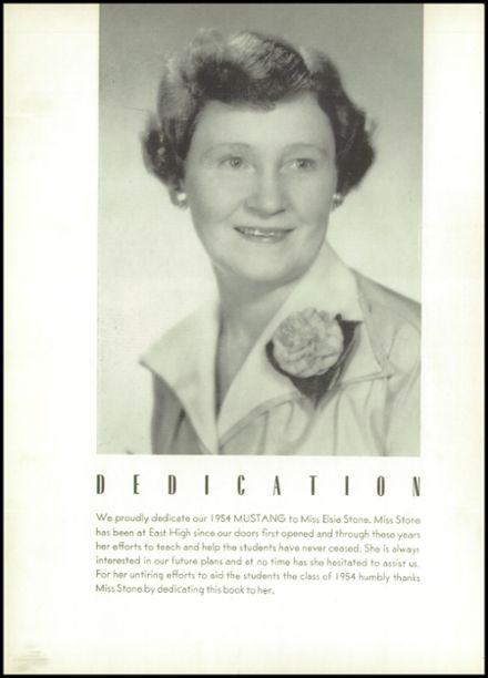 1954 East High School Yearbook Page 8