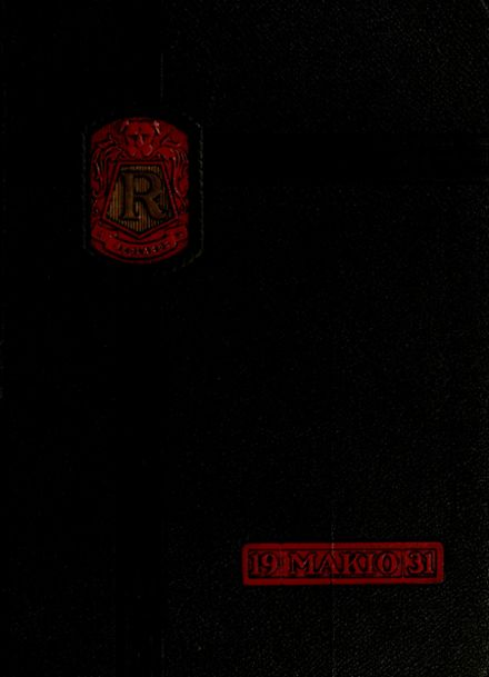 1931 Redlands High School Yearbook Cover