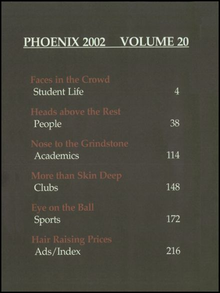 2002 Martin High School Yearbook Page 4