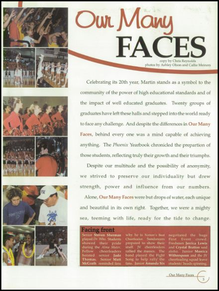 2002 Martin High School Yearbook Page 7