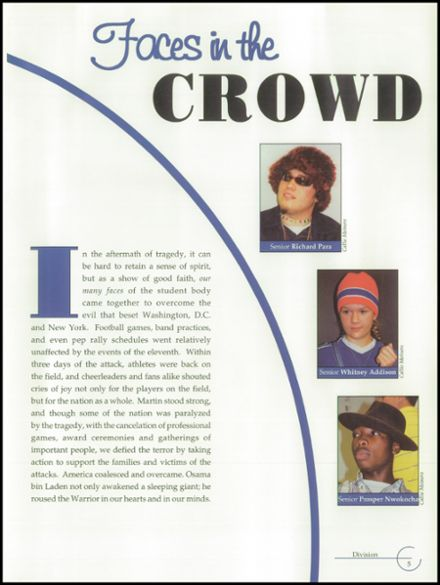 2002 Martin High School Yearbook Page 9
