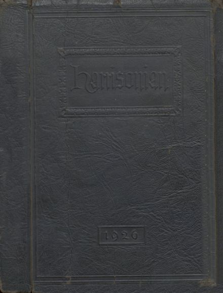 1926 Harrison High School Yearbook Cover