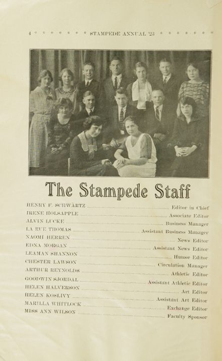 1923 Havre High School Yearbook Page 6