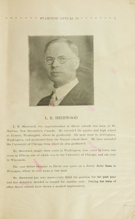 1923 Havre High School Yearbook Page 7