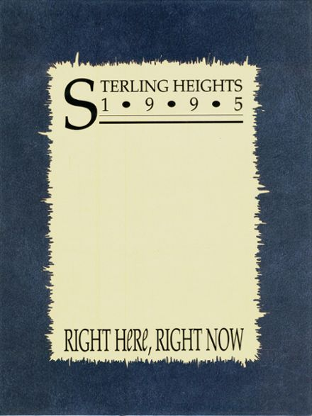 1995 Sterling Heights High School Yearbook Cover