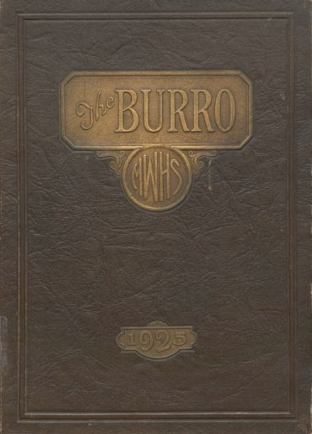 1925 Mineral Wells High School Yearbook Cover