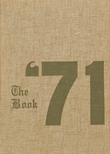 1971 Hamilton County High School Yearbook Cover
