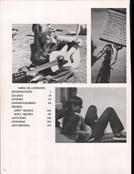 1974 Campbell High School Yearbook Page 6