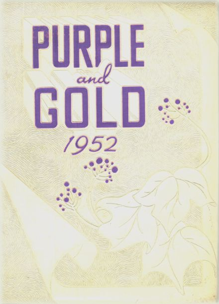 1952 Grand Island High School Yearbook Cover