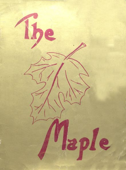 1947 Maple Valley High School Yearbook Cover